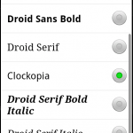 FontPreference on Android emulator