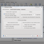 Configuration dialog (pre 5.0)