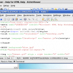 Viewing the HTML source in the external editor